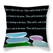 Peace In The World Throw Pillow by Barbara McMahon