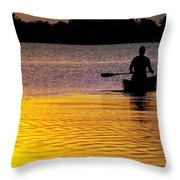 Peace Of Mind Throw Pillow by Karen Wiles