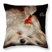 Peace On Earth Throw Pillow by Lois Bryan