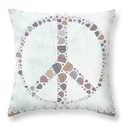 Peace Symbol Design - s76at02 Throw Pillow by Variance Collections