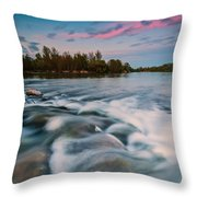 Peaceful evening Throw Pillow by Davorin Mance