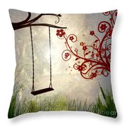 Peaceful Morning Glow Throw Pillow by Kaye Menner