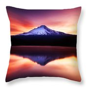 Peaceful Morning On The Lake Throw Pillow by Darren  White