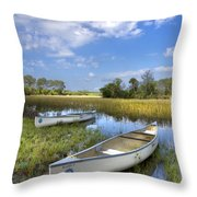 Peaceful Prairie Throw Pillow by Debra and Dave Vanderlaan