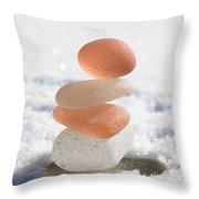 Peach Smoothie Throw Pillow by Barbara McMahon