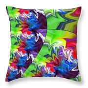 Peacock Throw Pillow by Chris Butler