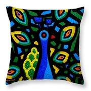 Peacock IIi Throw Pillow by John  Nolan