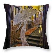 Peacock Room Door Throw Pillow by Diane Wood