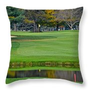 Peak N Peak Resort Hole Throw Pillow by Frozen in Time Fine Art Photography