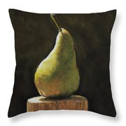 Pear Throw Pillow by Joanne Grant