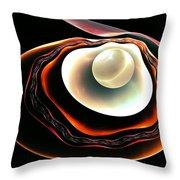 Pearl Throw Pillow by Anastasiya Malakhova
