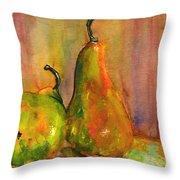 Pears Still Life Art  Throw Pillow by Blenda Studio