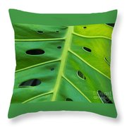 Peekaboo Leaf Throw Pillow by Ann Horn