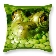 Peeping Through The Algae  Throw Pillow by Optical Playground By MP Ray