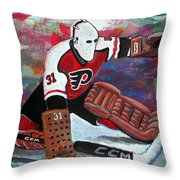 PELLE LINDBERGH Throw Pillow by Steve Benton