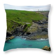 Pendeen Watch to Levant Throw Pillow by Terri  Waters
