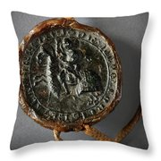 Pendent Wax Seal Of The Council Of Calahorra Throw Pillow by RicardMN Photography