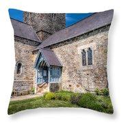 Penmon Priory Throw Pillow by Adrian Evans