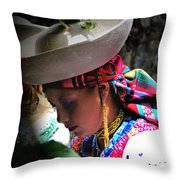 Pensive Dancer Throw Pillow by Al Bourassa