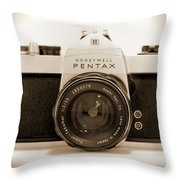 Pentax Spotmatic IIa Camera Throw Pillow by Mike McGlothlen