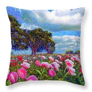 Peony Heaven Throw Pillow by Jane Small