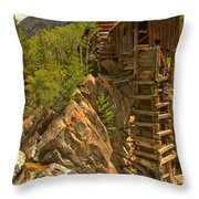 Perched On The Edge Throw Pillow by Adam Jewell