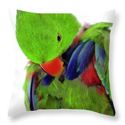 Perfect Bird Throw Pillow by Crystal Wightman