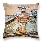 Perfume Bottle Ix Throw Pillow by Tom Mc Nemar