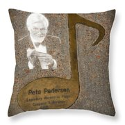 Pete Pedersen Note Throw Pillow by Donna Van Vlack