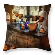 Pharmacist - Medicinal Equipment  Throw Pillow by Mike Savad