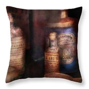 Pharmacist - Medicine For Diarrhea And Burns  Throw Pillow by Mike Savad