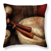 Pharmacy - Back to the grind Throw Pillow by Mike Savad