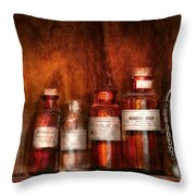 Pharmacy - Pharmacist's Fancy Fluids Throw Pillow by Mike Savad