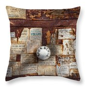 Pharmacy - Signs Of The Time  Throw Pillow by Mike Savad