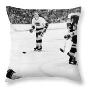 Phil Esposito In Action Throw Pillow by Gianfranco Weiss