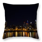 Philadelphia - Bright Lights Big City Throw Pillow by Bill Cannon