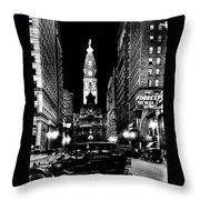 Philadelphia City Hall 1916 Throw Pillow by Benjamin Yeager