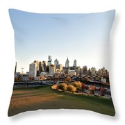 Philadelphia from South Street Throw Pillow by Bill Cannon