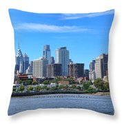 Philadelphia Living Throw Pillow by Olivier Le Queinec