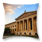 Philadelphia Museum Of Art Throw Pillow by Olivier Le Queinec