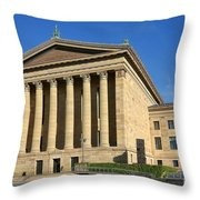 Philadelphia Museum of Art Rear Facade Throw Pillow by Olivier Le Queinec