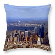 Philadelphia Throw Pillow by Olivier Le Queinec
