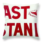 Phillies East Stand Sign - Connie Mack Stadium Throw Pillow by Bill Cannon