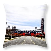 Phillies Stadium - Citizens Bank Park Throw Pillow by Bill Cannon