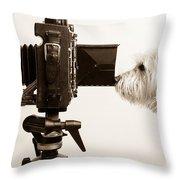 Pho Dog Grapher Throw Pillow by Edward Fielding