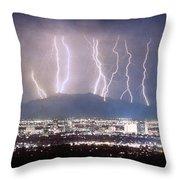 Phoenix Arizona City Lightning And Lights Throw Pillow by James BO  Insogna