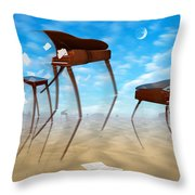 Piano Valley Throw Pillow by Mike McGlothlen