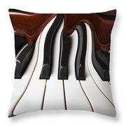 Piano Wave Throw Pillow by Garry Gay