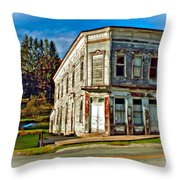 Pickens Wv Painted Throw Pillow by Steve Harrington