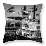 Picture Of Natchez Steamboat In New Orleans Throw Pillow by Paul Velgos